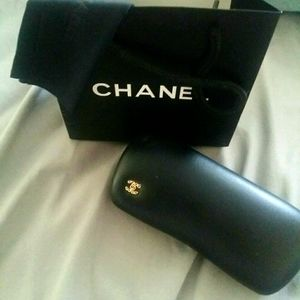 Chanel glasses case and shopping bag